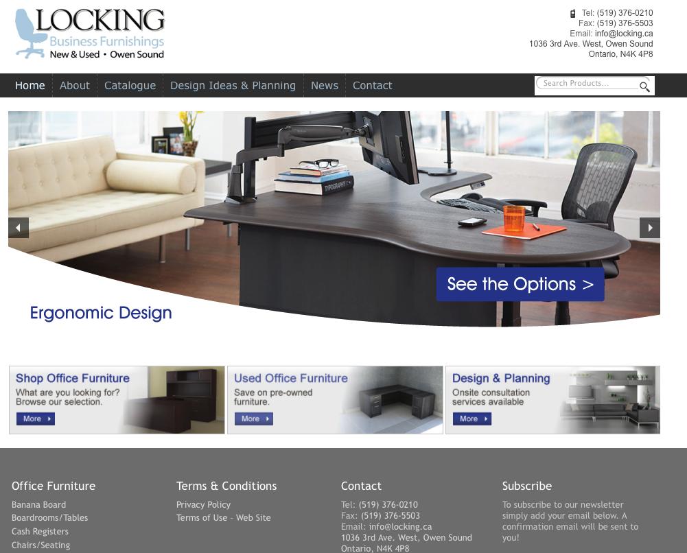 Locking Business Furnishings E-commerce Storefront