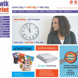 Qwik Print splash page