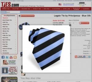 ties.com sales page