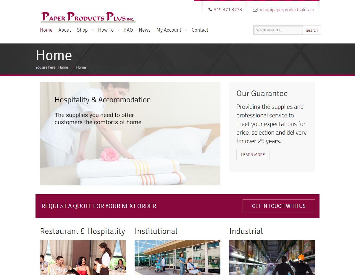 Paper Products Plus – Wholesale